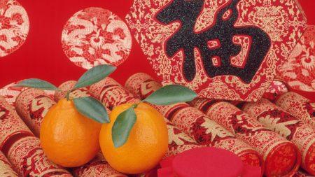 tangerines, tubes, fabric