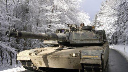 tank, street, winter
