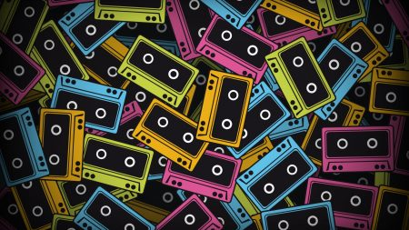 tapes, colorful, background
