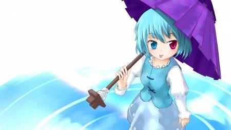 tatara kogasa, girl, umbrella
