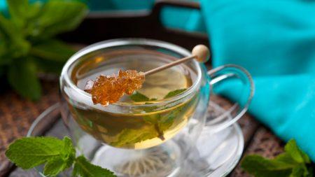 tea, cup, grass
