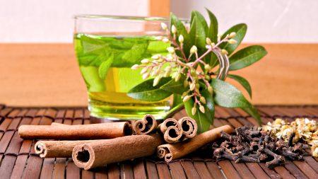 tea, tea leaves, glass
