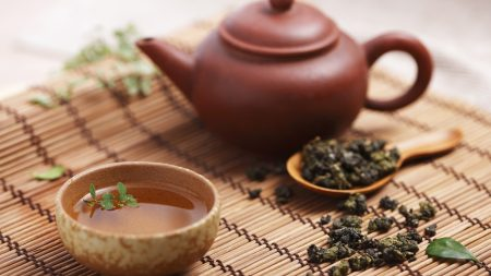 tea, teapot, leaves