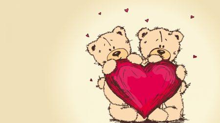 teddy bears, picture, romance