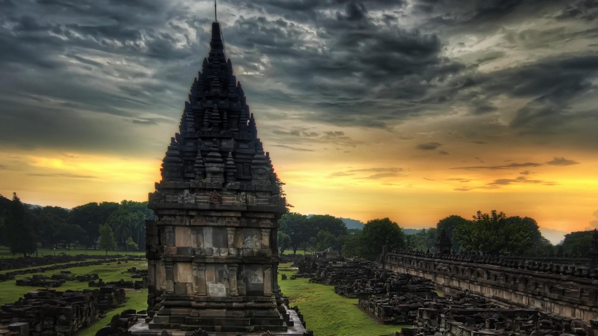 Download Wallpaper 1920x1080 temple, india, stones Full HD 1080p HD