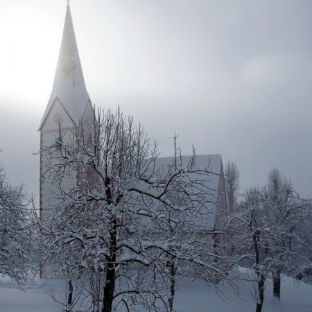 temple, winter, snow