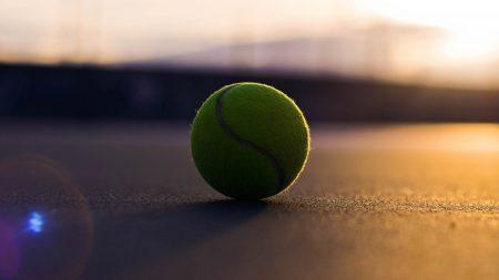 tennis ball, asphalt, shadow