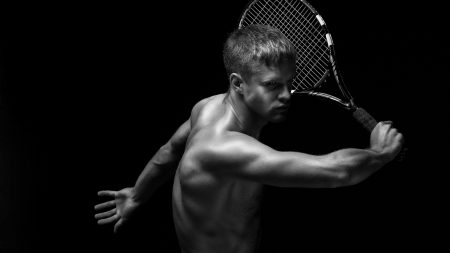 tennis, guy, racket