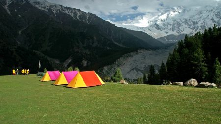 tents, rest, bright