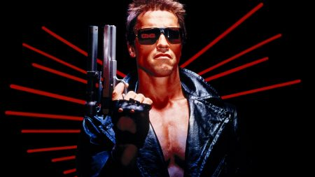 terminator, arnold schwarzenegger, gun
