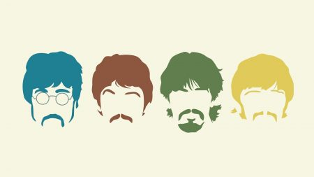 the beatles, silhouette, haircut
