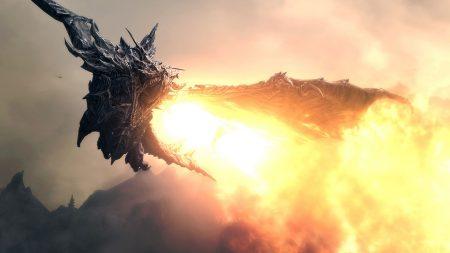 the elder scrolls, dragon, fly