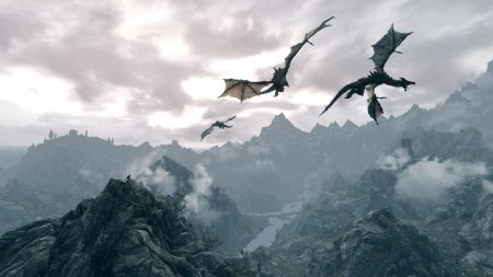 the elder scrolls, dragons, fly