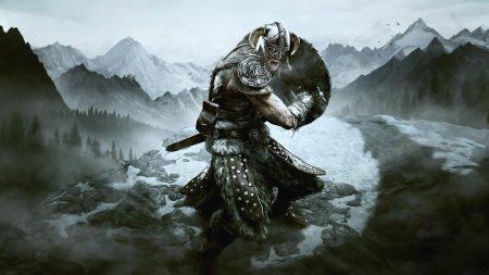the elder scrolls, shield, helmet