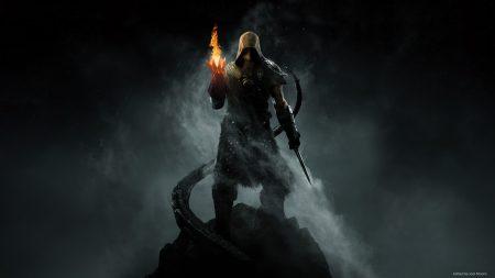 the elder scrolls, warrior, fire