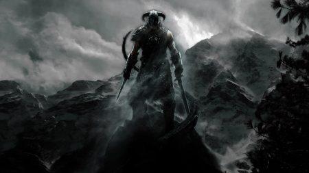 the elder scrolls, warrior, mountain