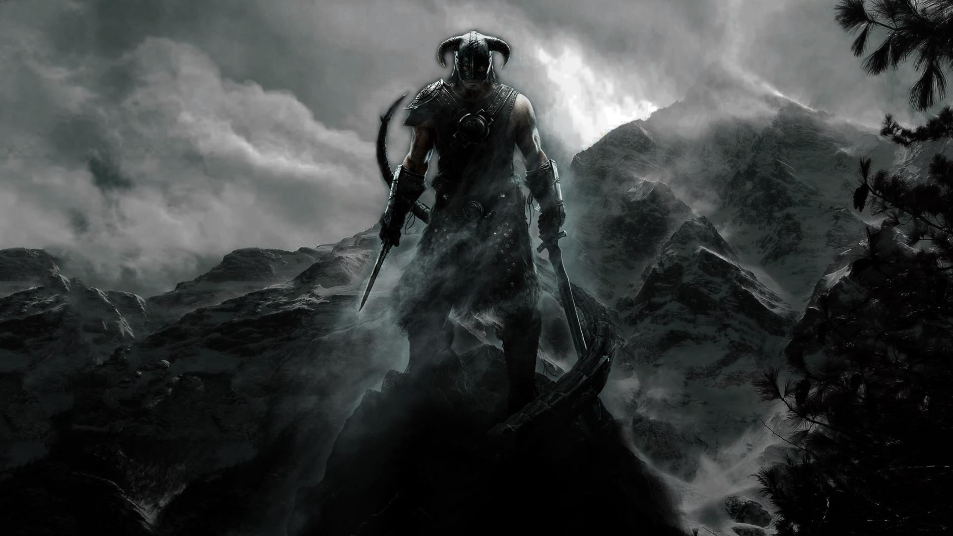 Download Wallpaper 1920x1080 The Elder Scrolls Warrior Mountain