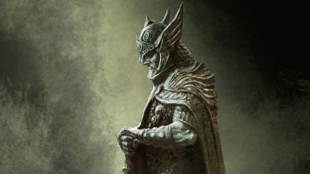 the elder scrolls, warrior, statue
