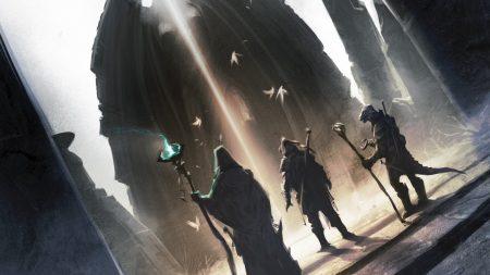 the elder scrolls, warriors, staff