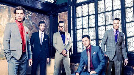 the overtones, window, suits
