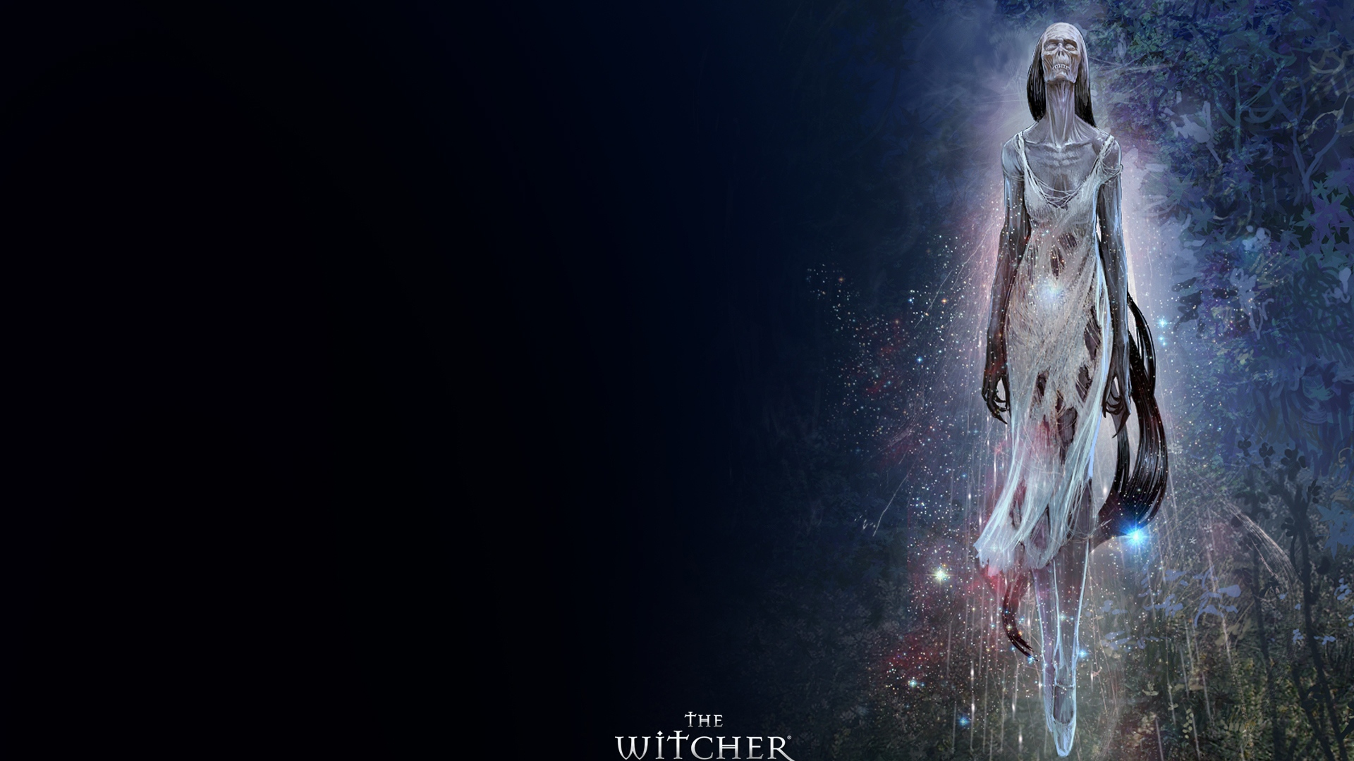 Download Wallpaper 1920x1080 The Witcher Girl Zombi Trees Full