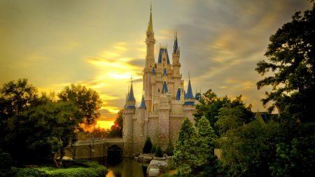 thomas kincaid, painting, cinderella castle