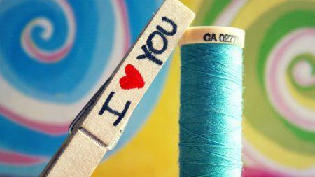 thread, stick, label
