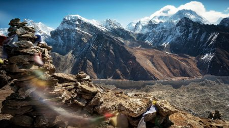 tibet, mountains, stones