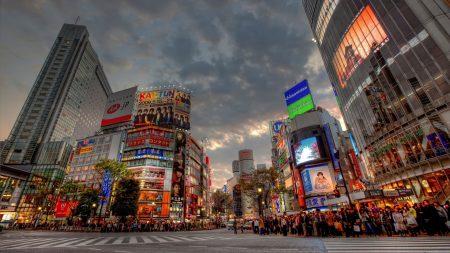 tokyo, road, buildings