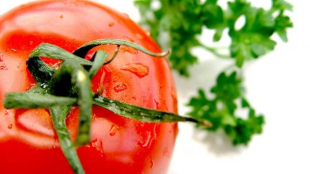 tomato, red, drops