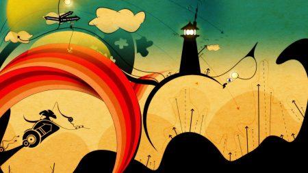 tower, city, lantern