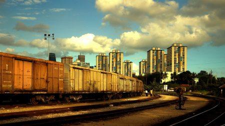 town, railway, suburban