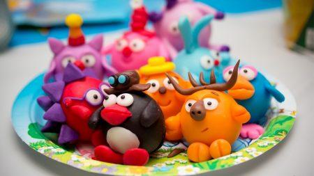 toys, cartoon, clay