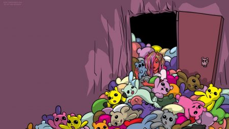 toys, teddy bears, door
