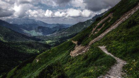 track, slope, descent