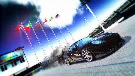 trackmania, car, flags
