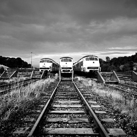 train, railway, rails