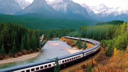 train, structure, mountains
