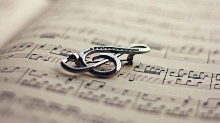 treble clef, notes, sheet