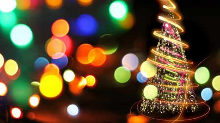 tree, holiday, colorful