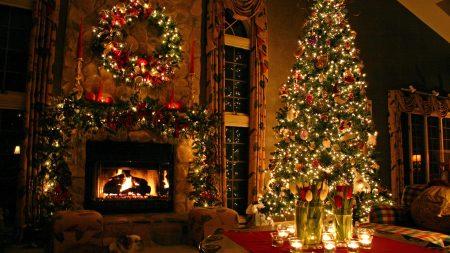 tree, house, new year