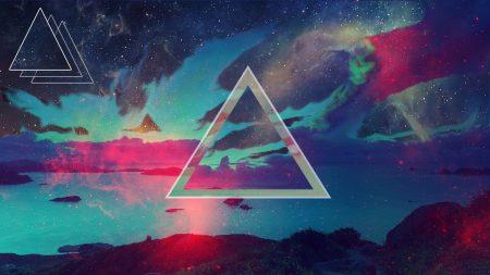 triangle, background, dark spots