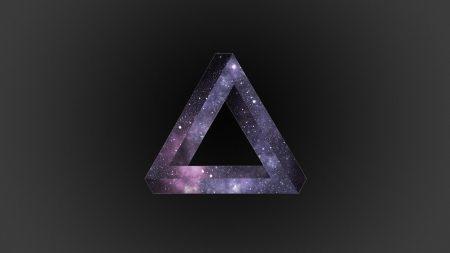 triangle, dark, background