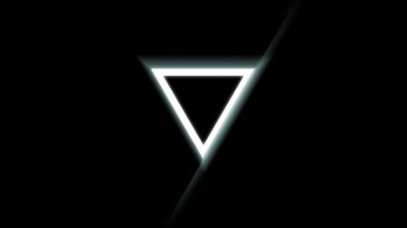 triangle, inverted, black