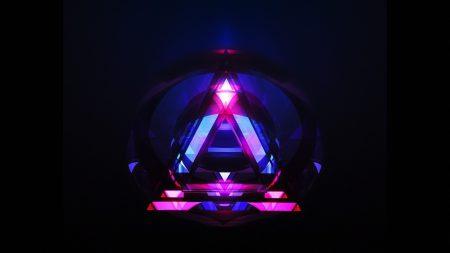 triangle, lines, dark