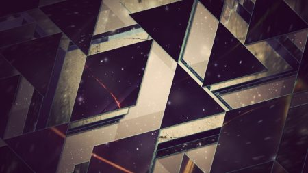 triangles, background, light