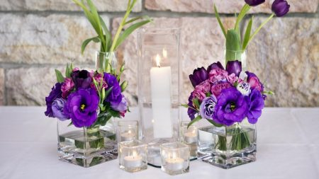tulips, lisianthus russell, flowers