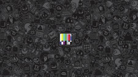tv, texture, stripes