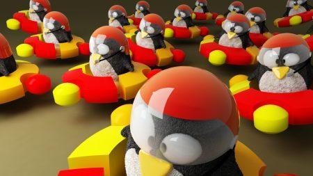 ubuntu, logo, penguins