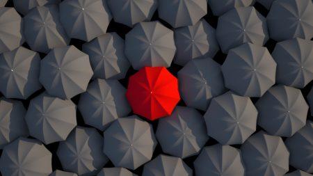 umbrellas, 3d, red